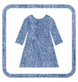woman dress fabric textured icon vector image vector image