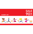 Women Hurry Run to Sale vector image vector image