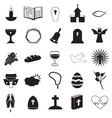 Christian Icons Collection vector image