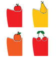 fruit color vector image