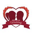Wedding design over white background vector image