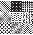 collection seamless backgrounds with lines vector image