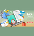 3d conceptual financial tax vector image vector image