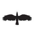 a crow symbol vector image vector image