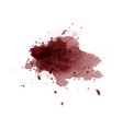 abstract isolated dark red watercolor stain vector image