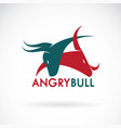 angry bull on a white background logo animal
