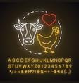 animal welfare neon light concept icon voluntary vector image vector image