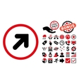 Arrow Up Right Flat Icon with Bonus vector image vector image