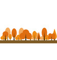 autumn tree icon vector image vector image