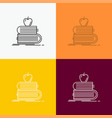 back to school school student books apple icon vector image