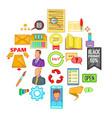 bank phishing icons set cartoon style vector image vector image