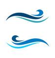 Blue wave swoosh logo template design eps