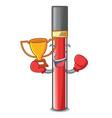 boxing winner lip gloss above cartoon makeup table vector image vector image