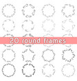 bunch of frames design templates vector image vector image