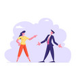 business man and woman yelling on each other vector image vector image