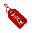 buy now sales tag icon vector image