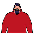 cartoon man icon vector image vector image