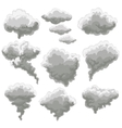 Cartoon smoking fog clouds vector image vector image