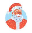 classic santa claus face vector image vector image