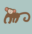 cute cartoon monkey childish vector image