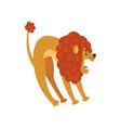 cute lion cartoon character roaring vector image