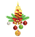 Decorative Christmas Candle3 vector image vector image