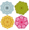 decorative round ornament pattern vector image