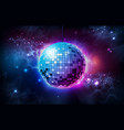 disco ball disco ball on open space background vector image