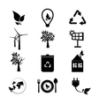 Ecology icons set Collection of eco icons vector image vector image