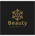 elegant luxury golden star flower mandala logo vector image