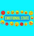emotional state concept banner cartoon style vector image vector image