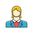 employee woman filled related flat icon vector image vector image