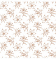 flowers pattern lily pattern floral vector image vector image