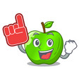 foam finger green smith apple isolated on cartoon vector image