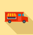 food truck icon flat style vector image vector image