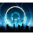 Futuristic City Background vector image