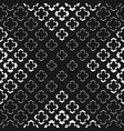 geometric halftone seamless floral pattern vector image vector image