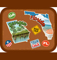georgia florida travel stickers vector image vector image