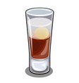glass bar cordial glass with cocktail with egg vector image vector image