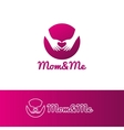 gradient mother care and baby center vector image