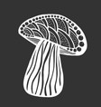 hand drawn magic mushroom vector image vector image