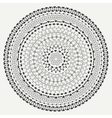 Hand drawn mandala ornament Geometric pattern vector image