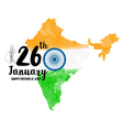 Happy Indian Republic Day celebration vector image vector image