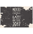 Happy new year 2017 hipster banner lettering vector image
