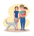 happy smiling family mother father daughter and vector image