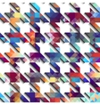 Houndstooth pattern on white background vector image vector image