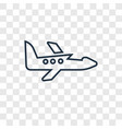 jet concept linear icon isolated on transparent vector image vector image