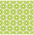 kiwi slices seamless pattern vector image vector image