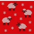 Knitted holiday seamless vector image vector image