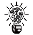 Light bulb with gears vector | Price: 1 Credit (USD $1)